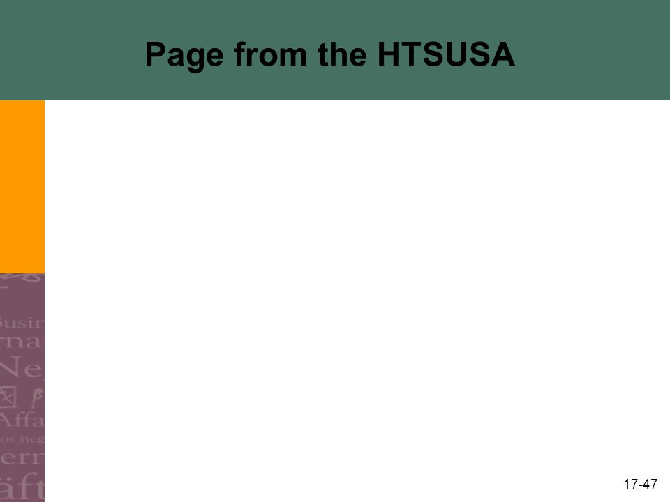 17-47 Page from the HTSUSA