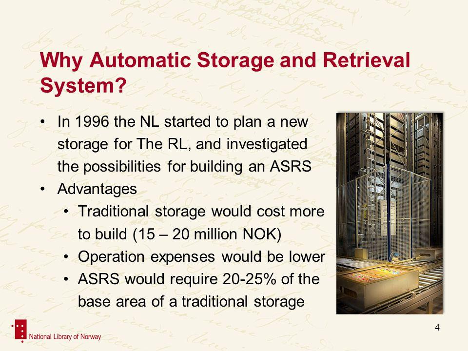 Why Automatic Storage.