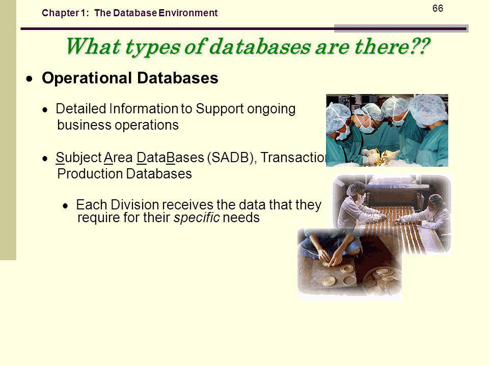 Chapter 1: The Database Environment 66 What types of databases are there?.