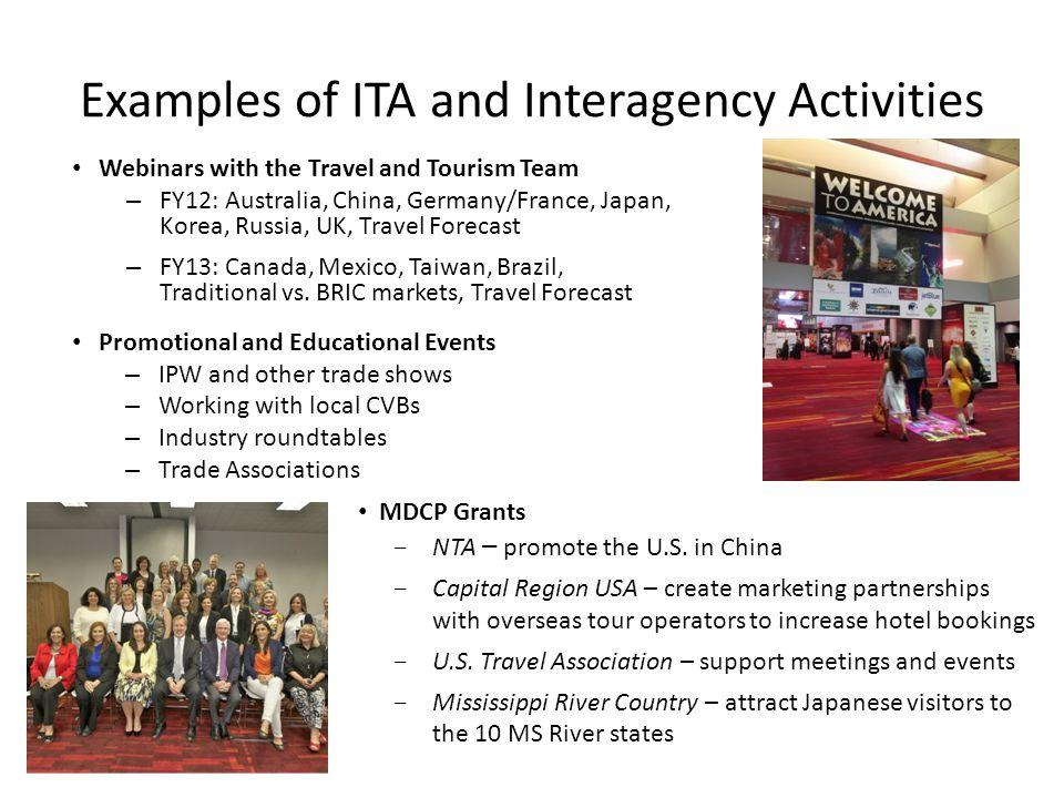 MDCP Grants  NTA – promote the U.S.