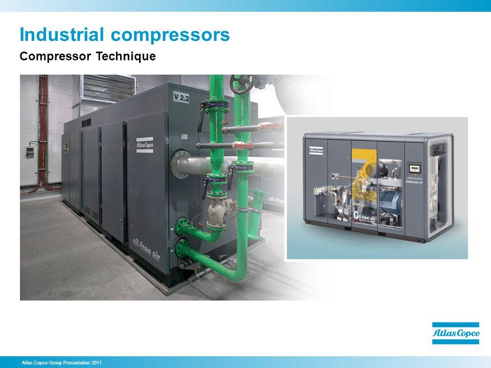 Industrial compressors Atlas Copco Group Presentation 2011 Compressor Technique