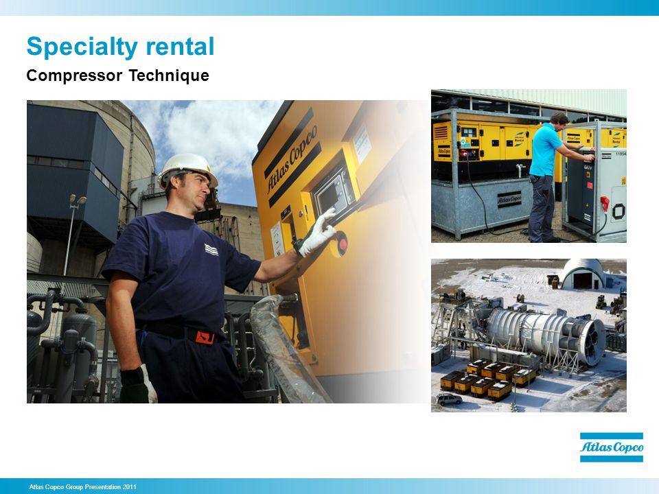 Specialty rental Atlas Copco Group Presentation 2011 Compressor Technique