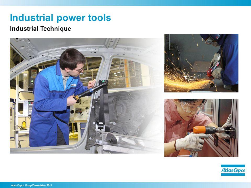 Industrial power tools Atlas Copco Group Presentation 2011 Industrial Technique