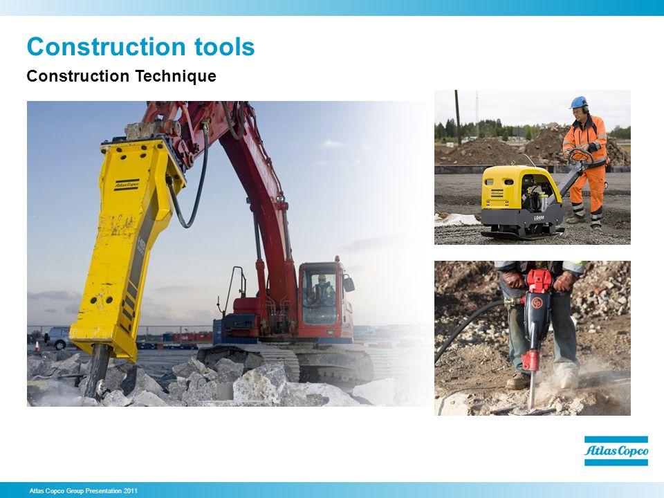 Construction tools Atlas Copco Group Presentation 2011 Construction Technique