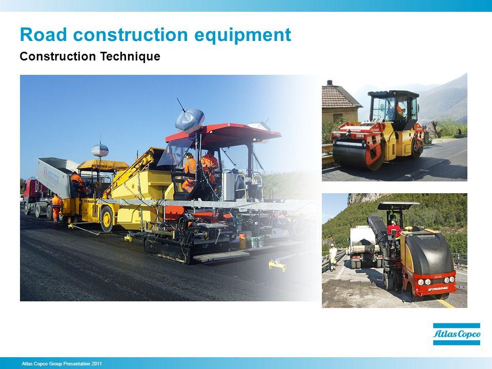 Road construction equipment Atlas Copco Group Presentation 2011 Construction Technique
