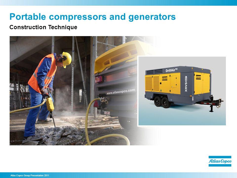 Portable compressors and generators Atlas Copco Group Presentation 2011 Construction Technique