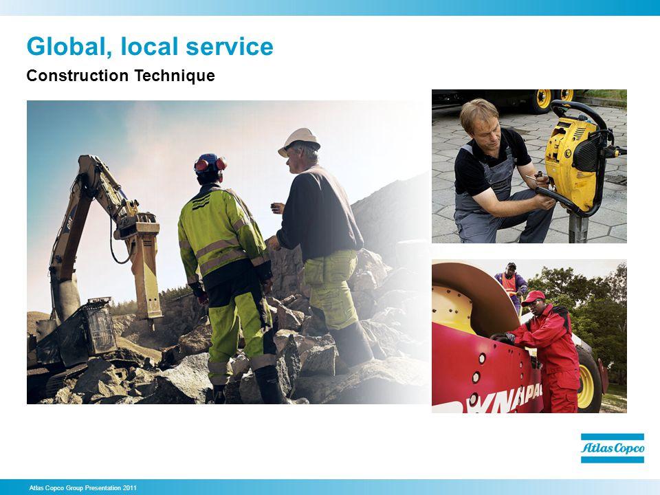 Global, local service Atlas Copco Group Presentation 2011 Construction Technique