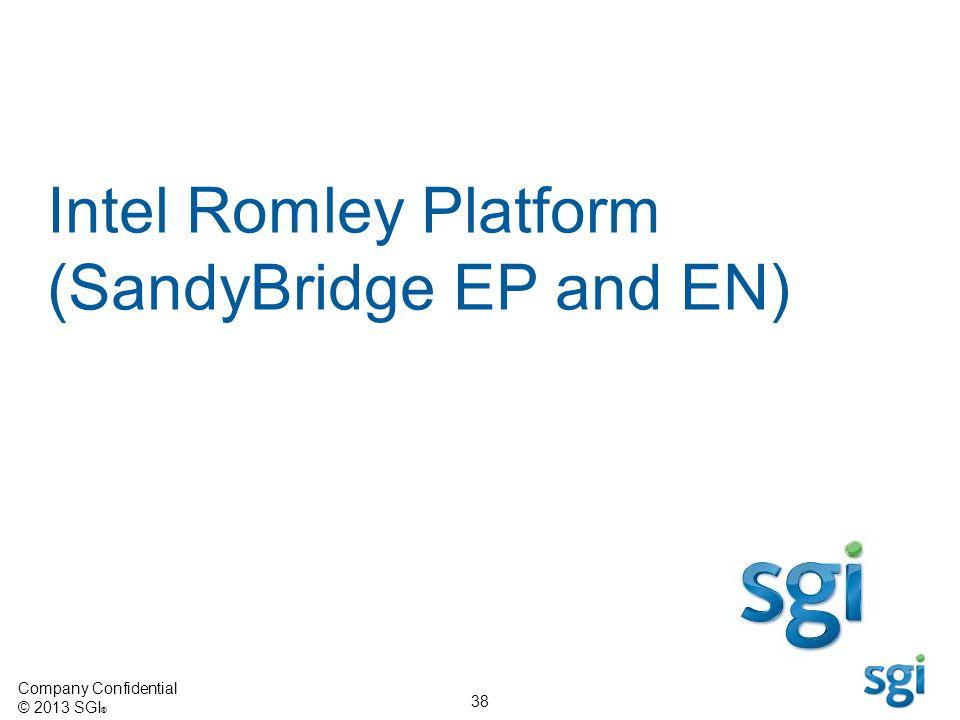 Company Confidential © 2013 SGI ® 38 Intel Romley Platform (SandyBridge EP and EN)