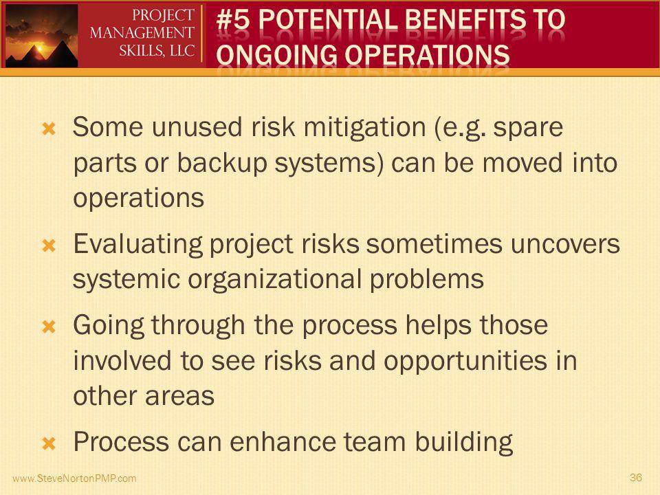 Some unused risk mitigation (e.g.