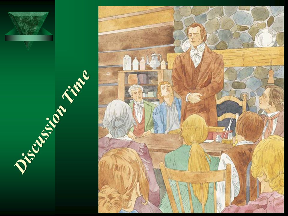 Joseph Smith studied the letters and grammar of the Egyptian language, and then, with the help of the Holy Ghost, he translated the writings on the pa