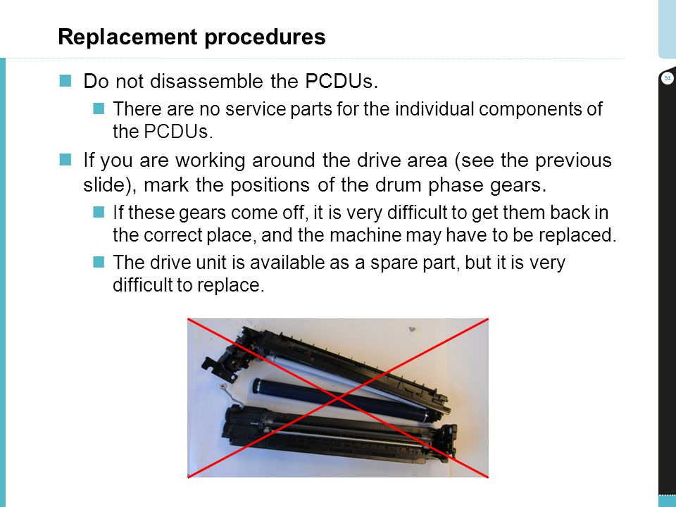 Replacement procedures Do not disassemble the PCDUs. There are no service parts for the individual components of the PCDUs. If you are working around