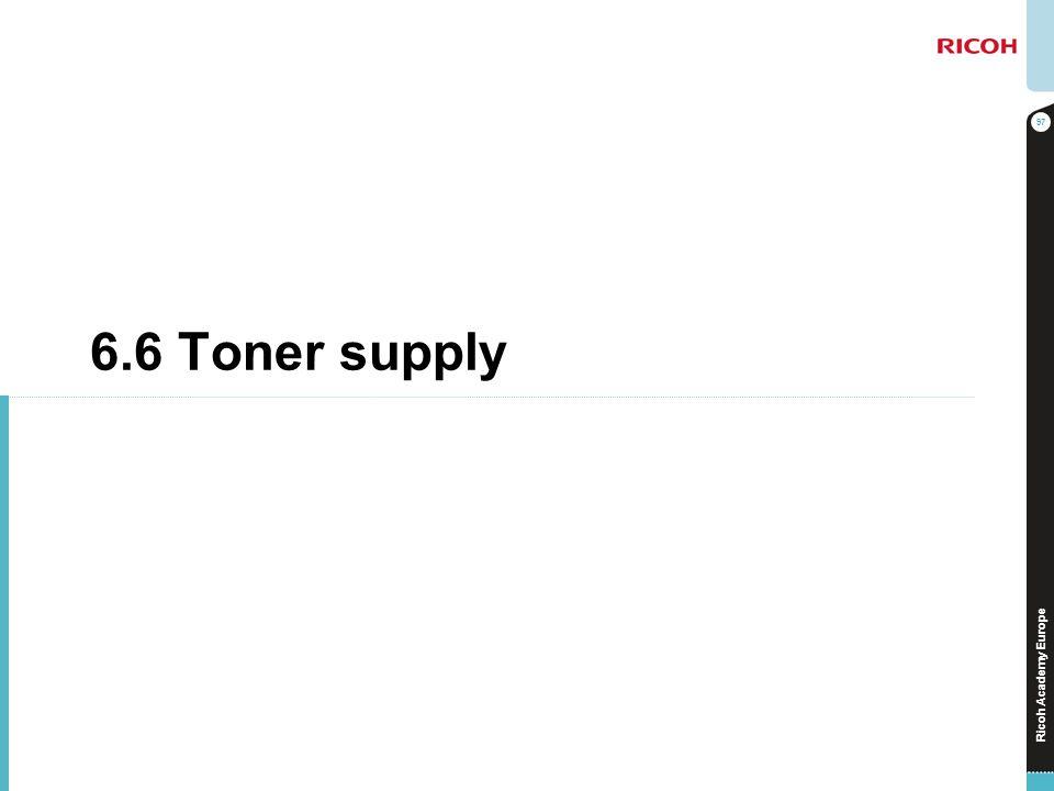 Ricoh Academy Europe 6.6 Toner supply 97
