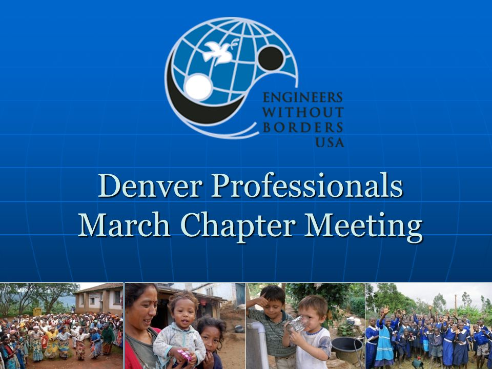 Denver Professionals March Chapter Meeting
