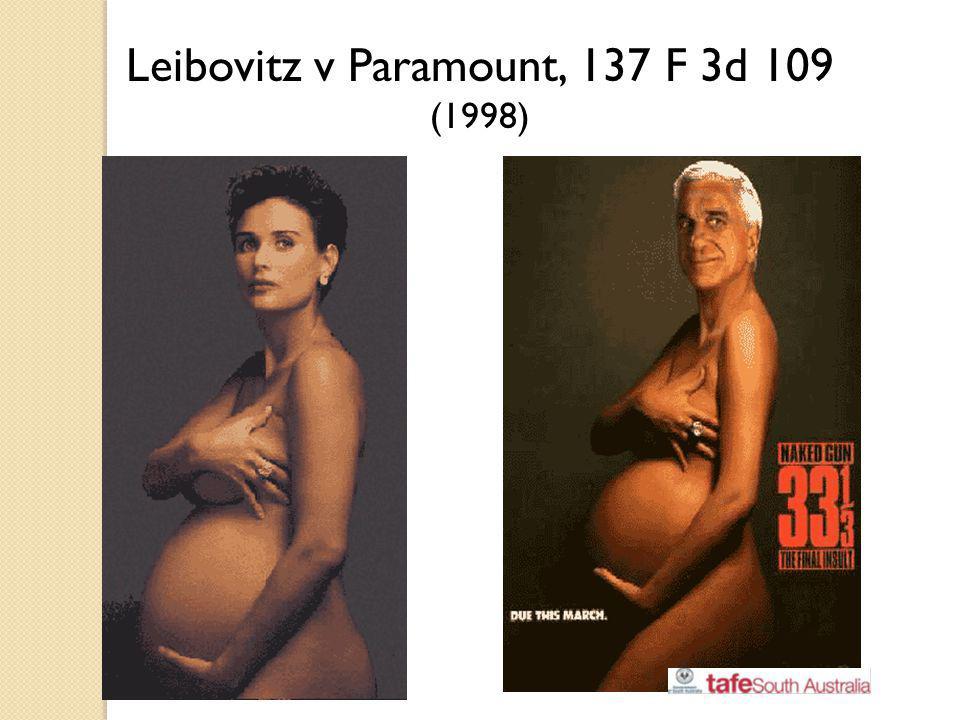 Leibovitz v Paramount, 137 F 3d 109 (1998)