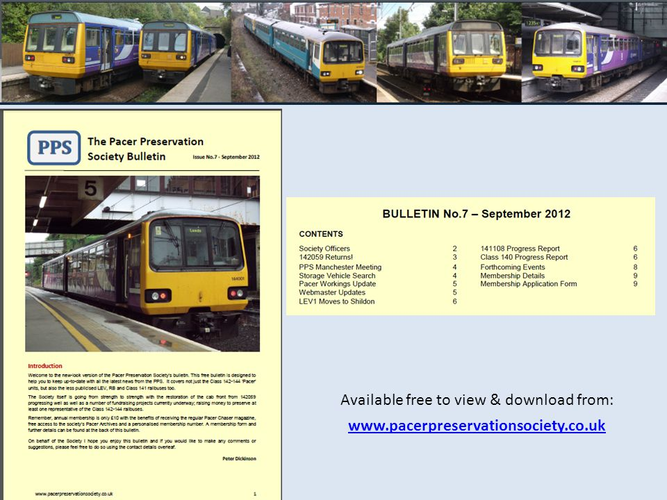 Available free to view & download from: www.pacerpreservationsociety.co.uk