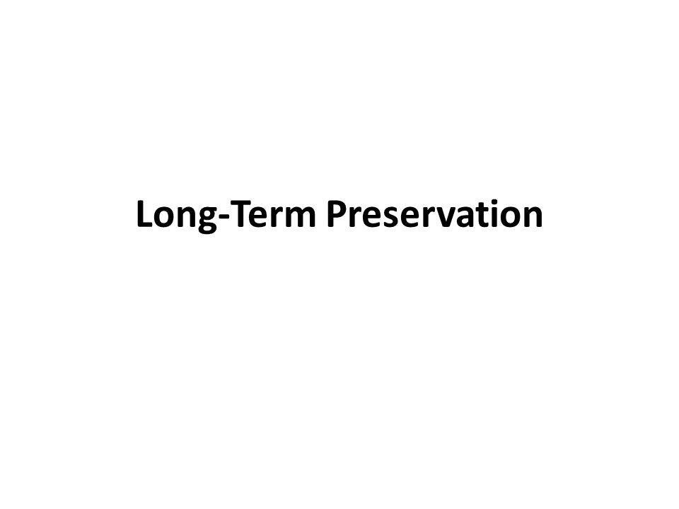 Technical Approaches to Long-Term Preservation the challenge is to interpret formats a similar development: sound carriers From phonograph to MP3