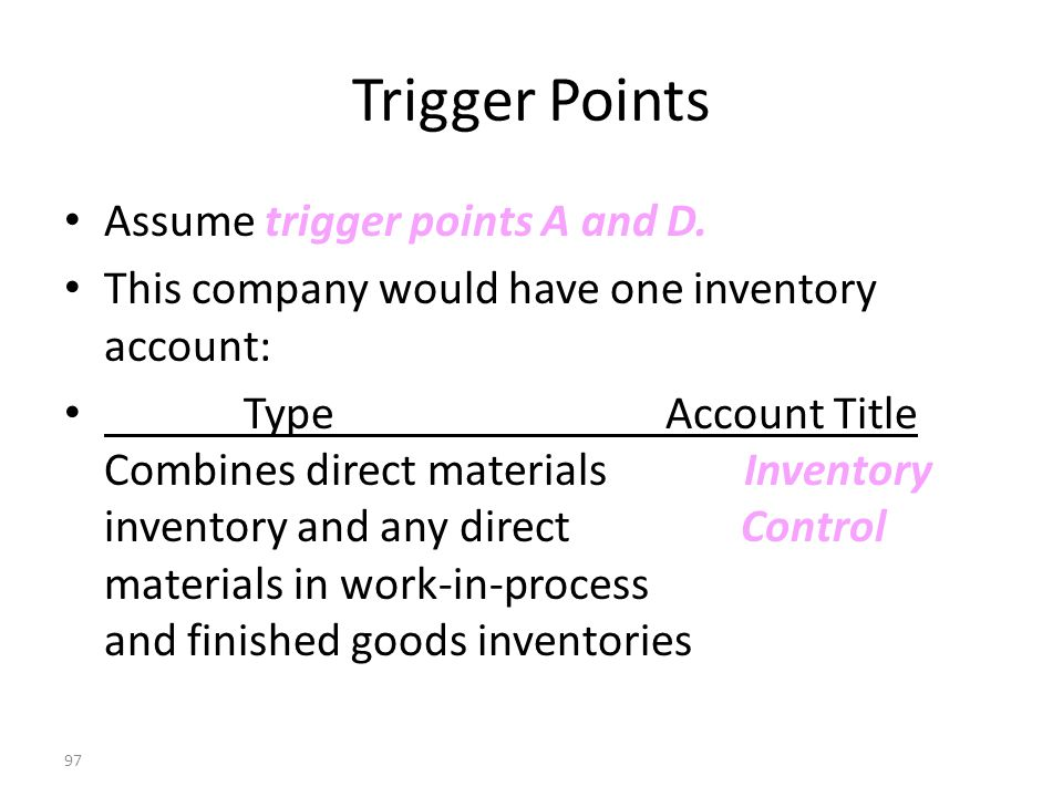 96 Trigger Points Assume trigger points A, C, and D.