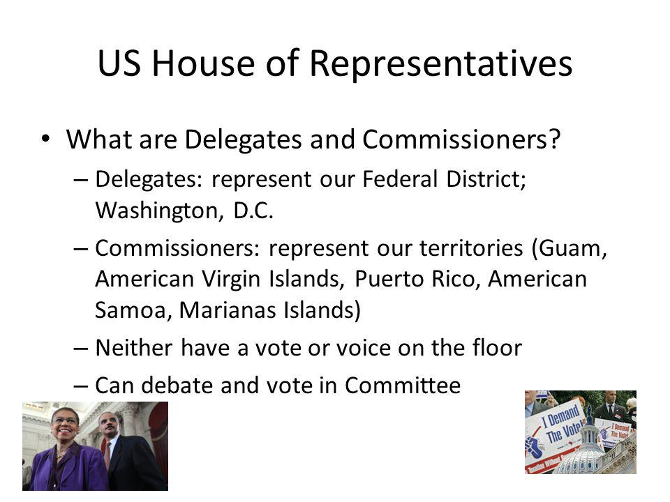 US House of Representatives What are Delegates and Commissioners.