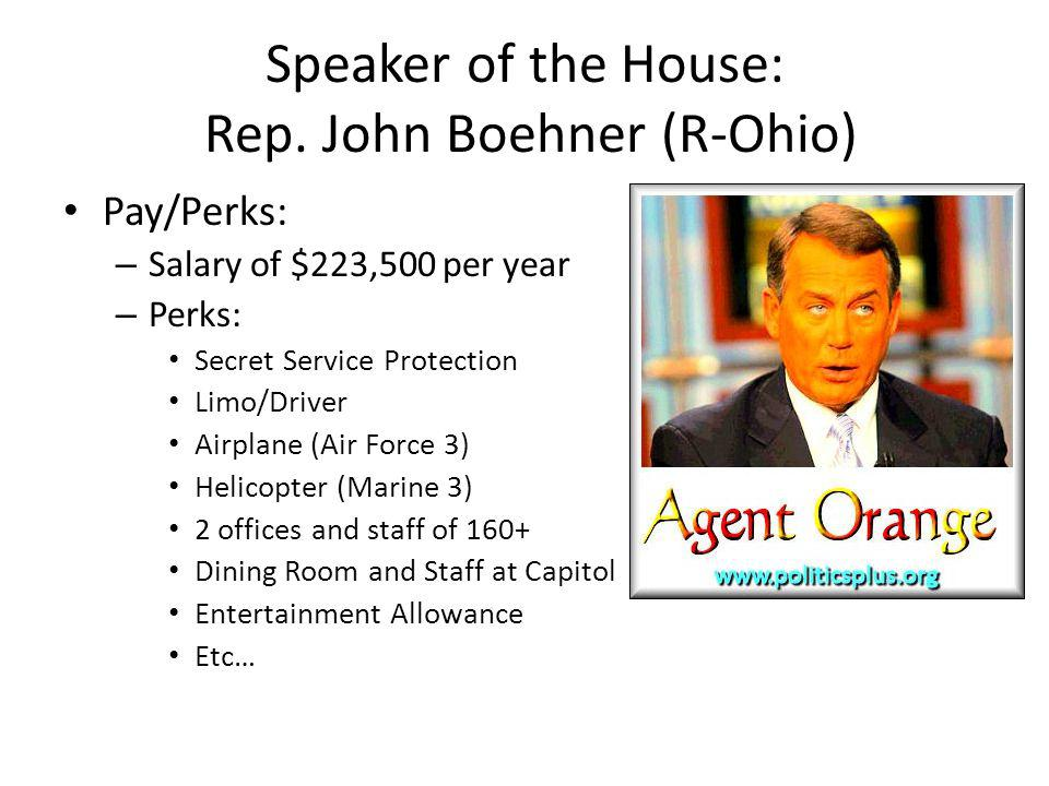 Speaker of the House: Rep.
