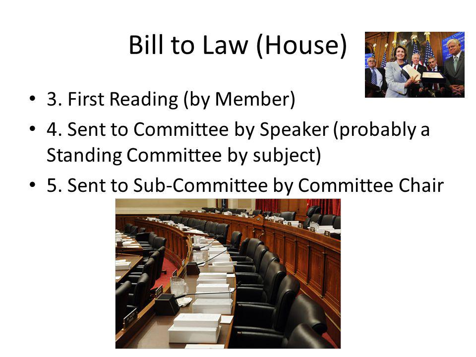 Bill to Law (House) 3. First Reading (by Member) 4.