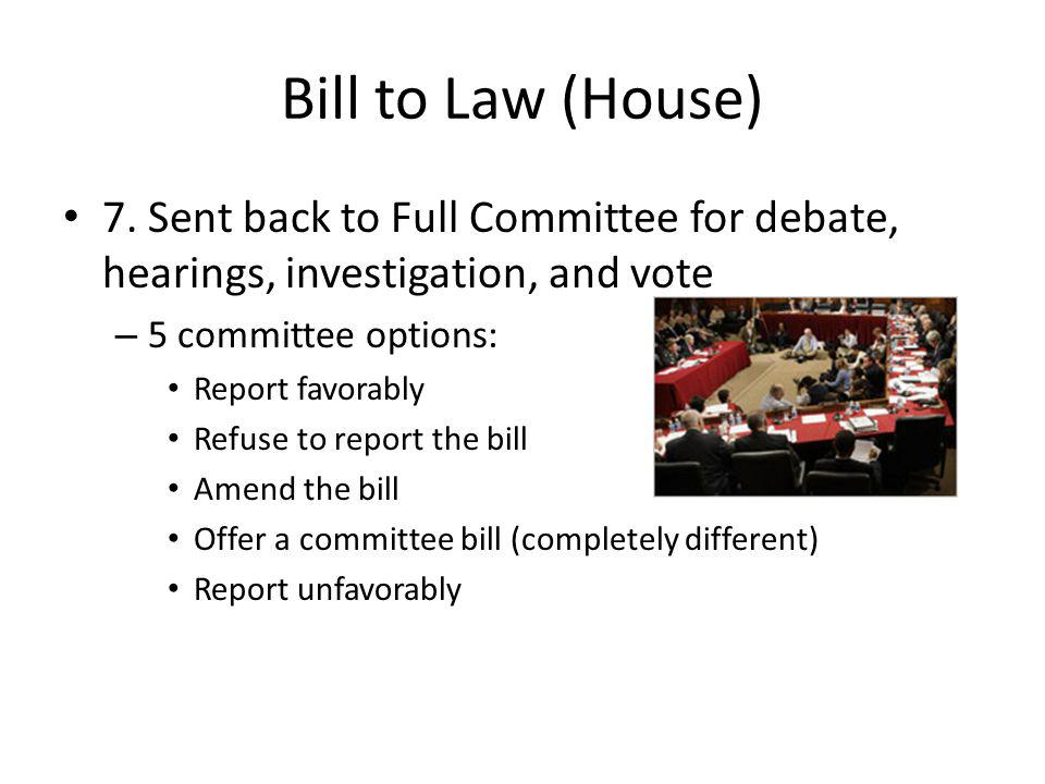 Bill to Law (House) 7.