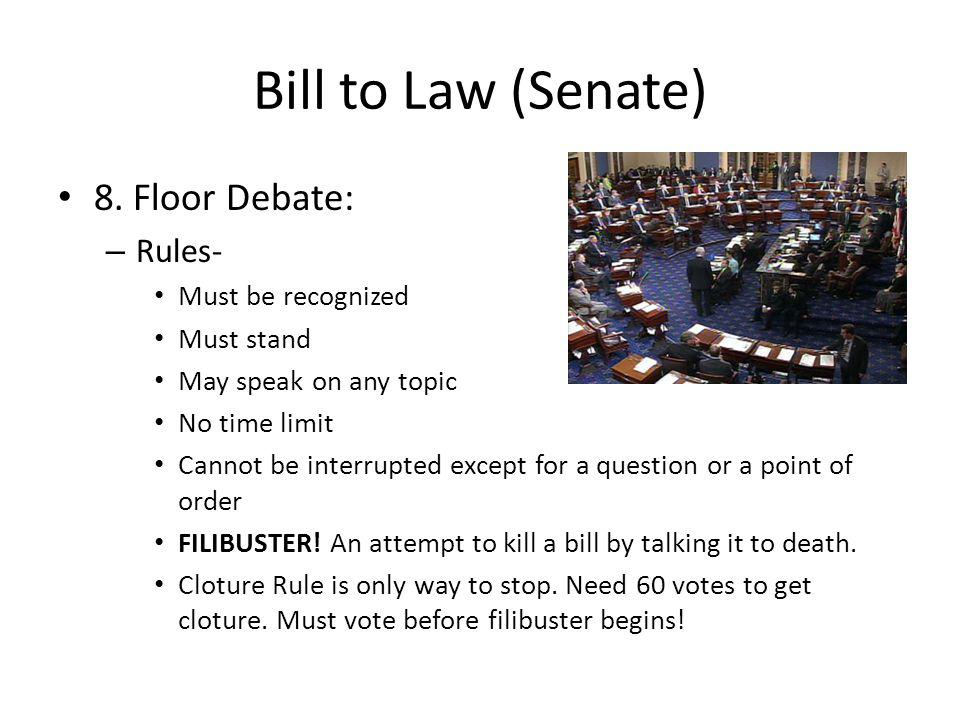 Bill to Law (Senate) 8.