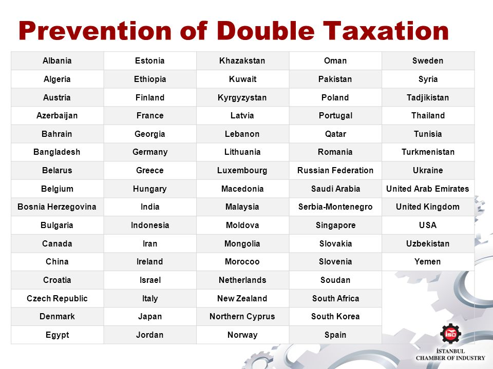 Prevention of Double Taxation AlbaniaEstoniaKhazakstanOmanSweden AlgeriaEthiopiaKuwaitPakistanSyria AustriaFinlandKyrgyzystanPolandTadjikistan Azerbai
