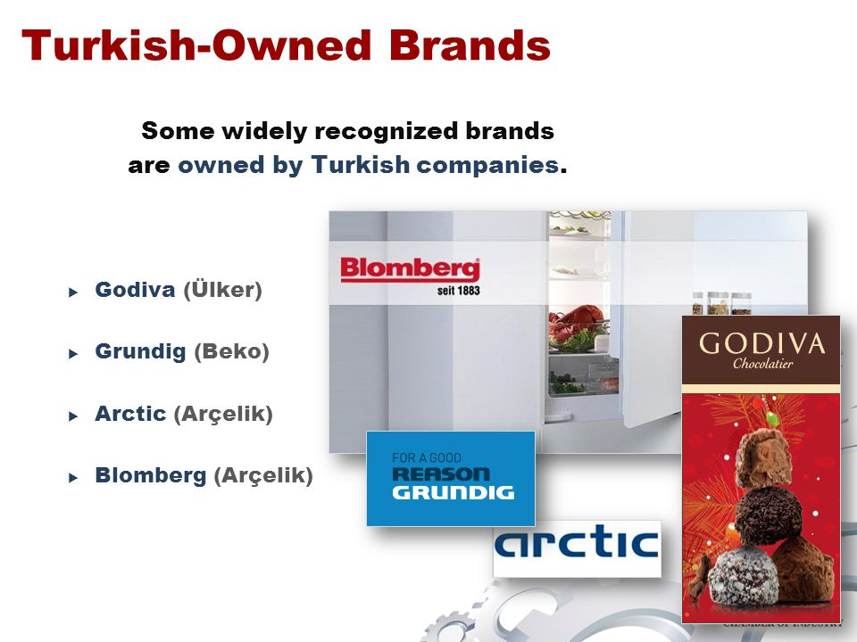 Some widely recognized brands are owned by Turkish companies.