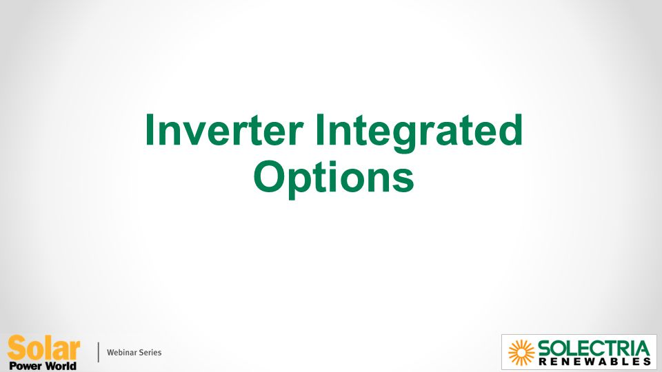 Inverter Integrated Options