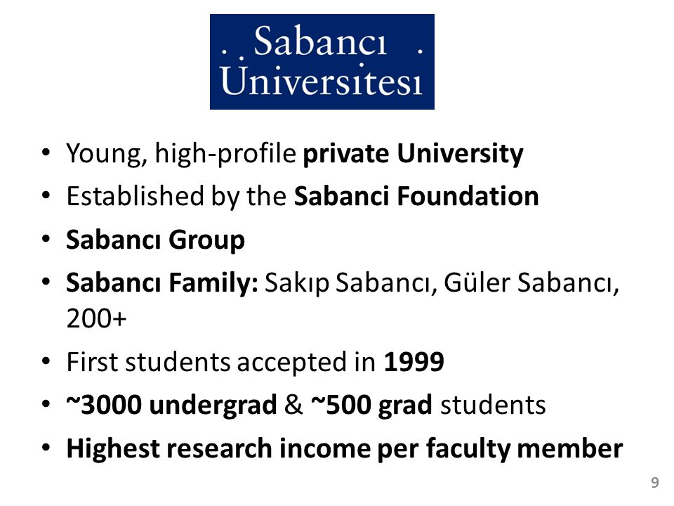 Dr.Gürdal Ertek Assistant Professor at Sabancı University, Istanbul, Turkey, since 2002 Ph.D.