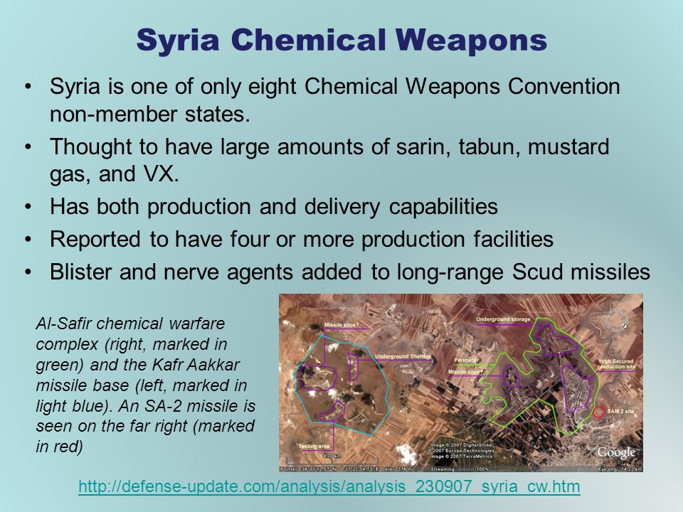 Syria Chemical Weapons Syria is one of only eight Chemical Weapons Convention non-member states.