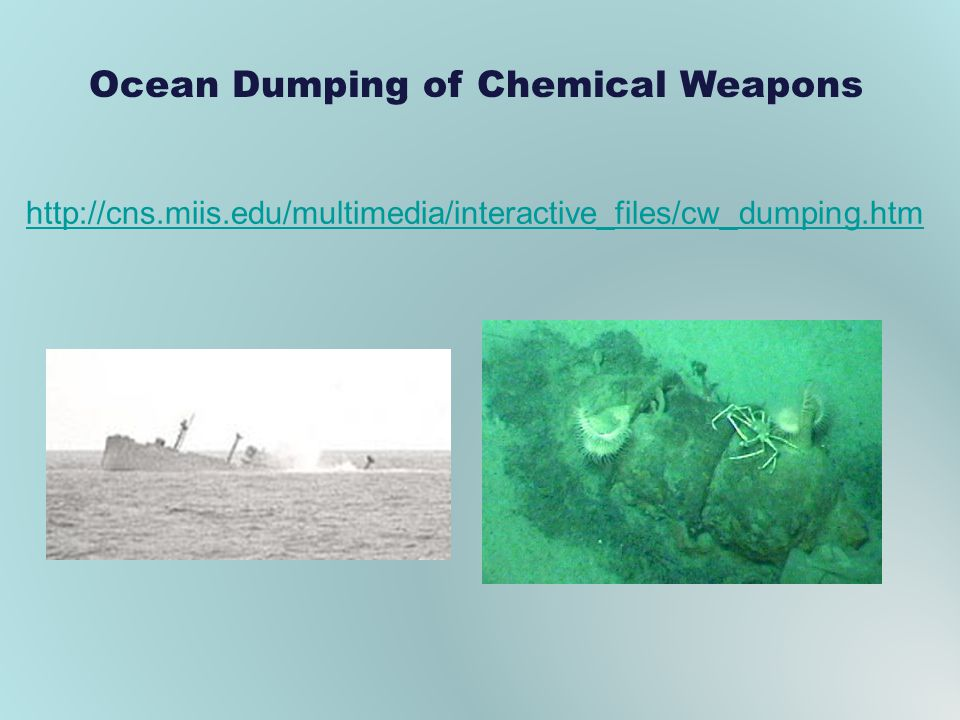 Ocean Dumping of Chemical Weapons http://cns.miis.edu/multimedia/interactive_files/cw_dumping.htm