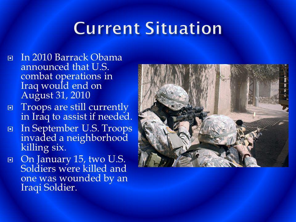 In 2010 Barrack Obama announced that U.S.