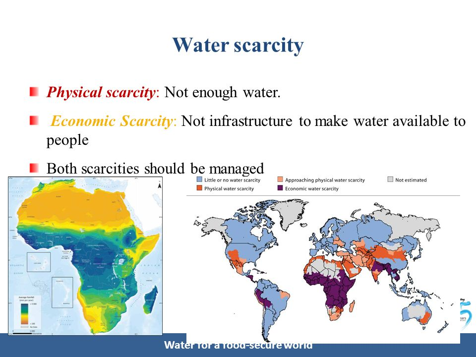 Water for a food-secure world Distribution of the percentage of area under irrigation Ample room for development