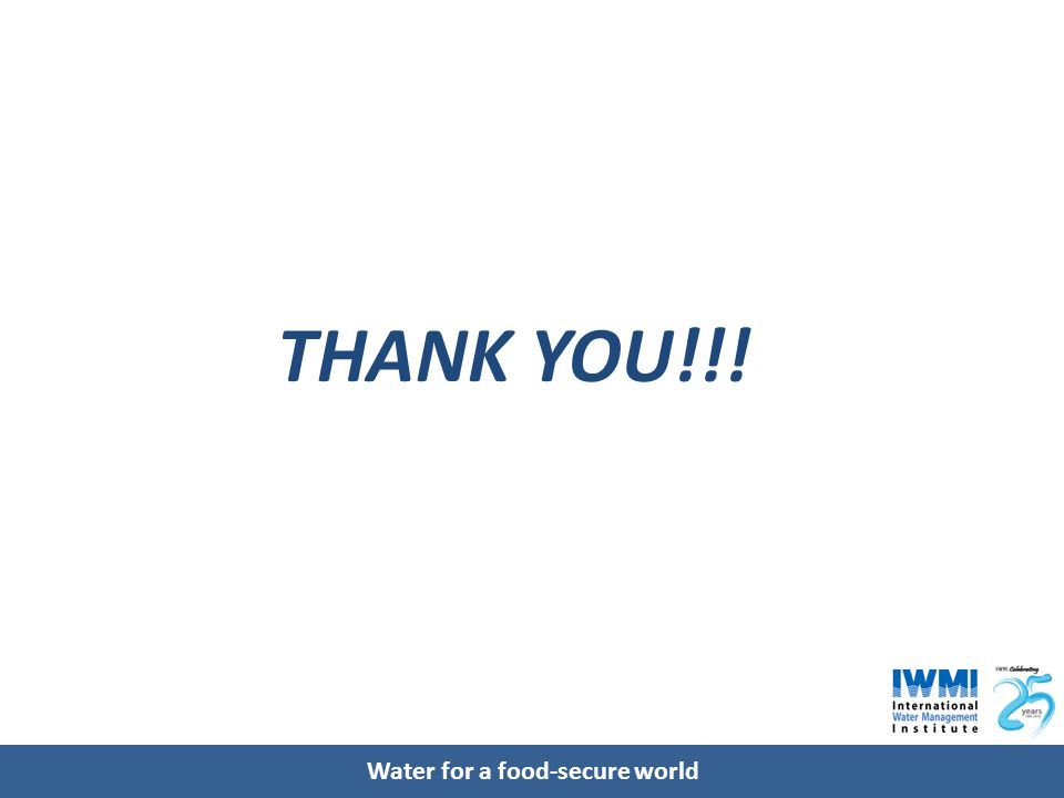 Water for a food-secure world THANK YOU!!!