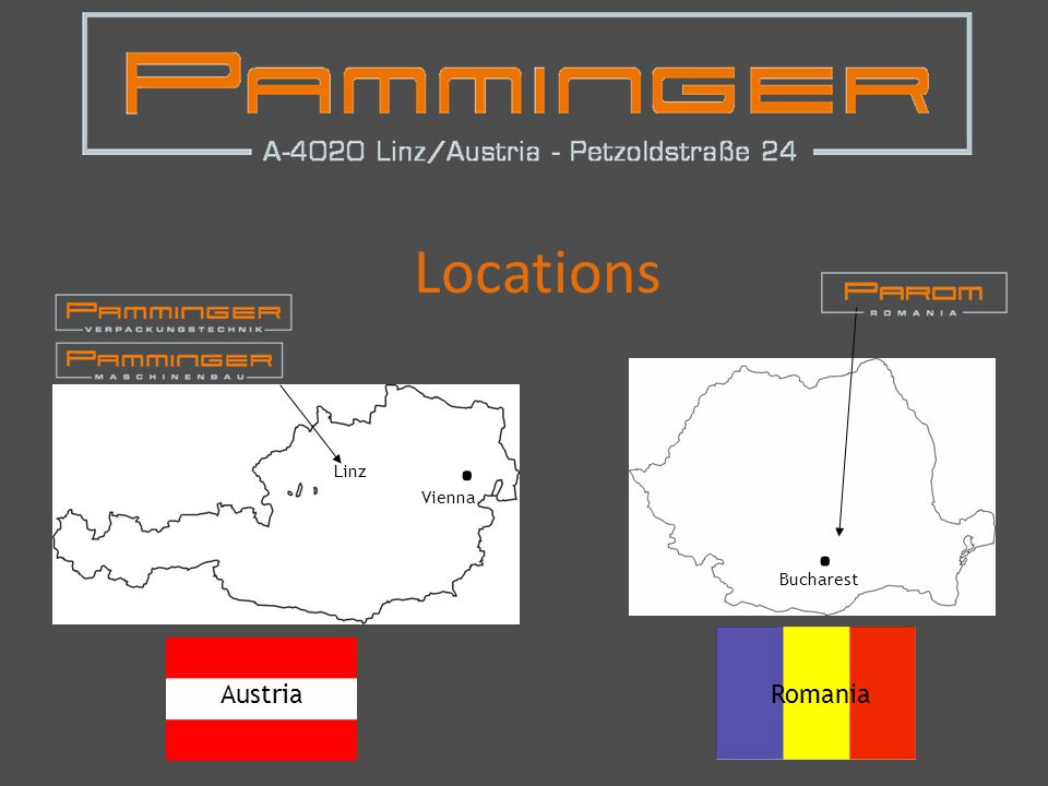Locations Linz Vienna. Bucharest AustriaRomania.