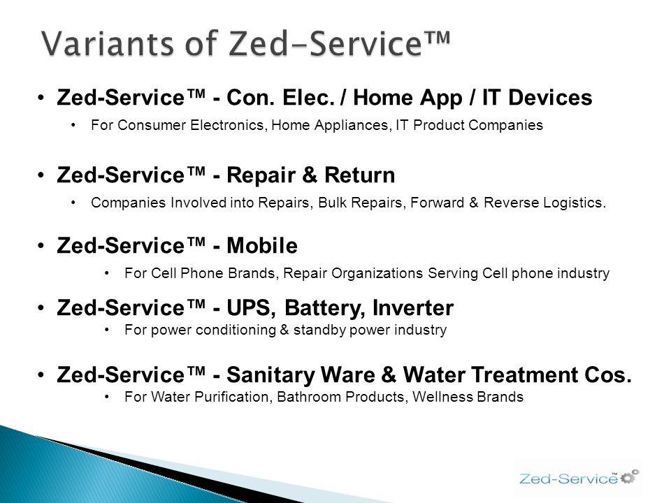 Zed-Service - Con. Elec. / Home App / IT Devices For Consumer Electronics, Home Appliances, IT Product Companies Zed-Service - Repair & Return Compani
