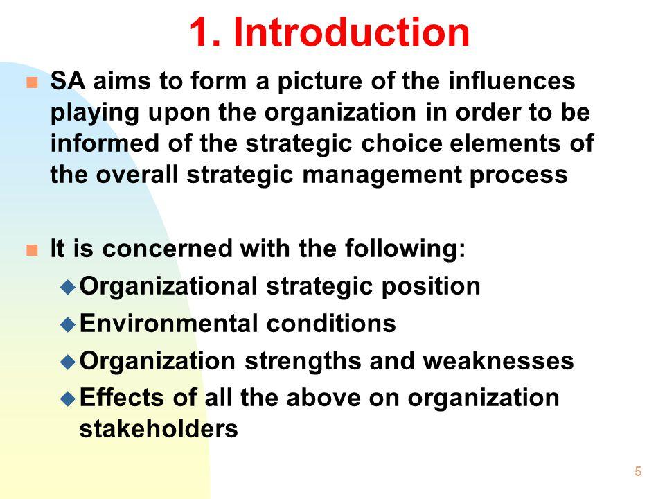 4 2.1 Strategic Analysis Tools