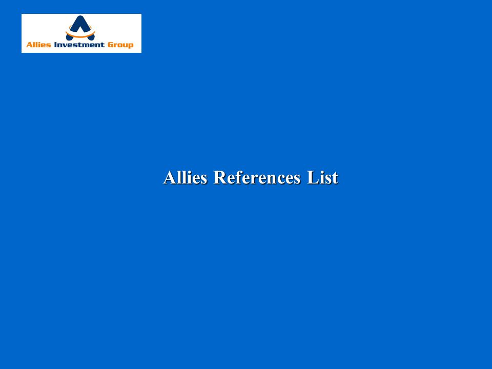 Allies References List