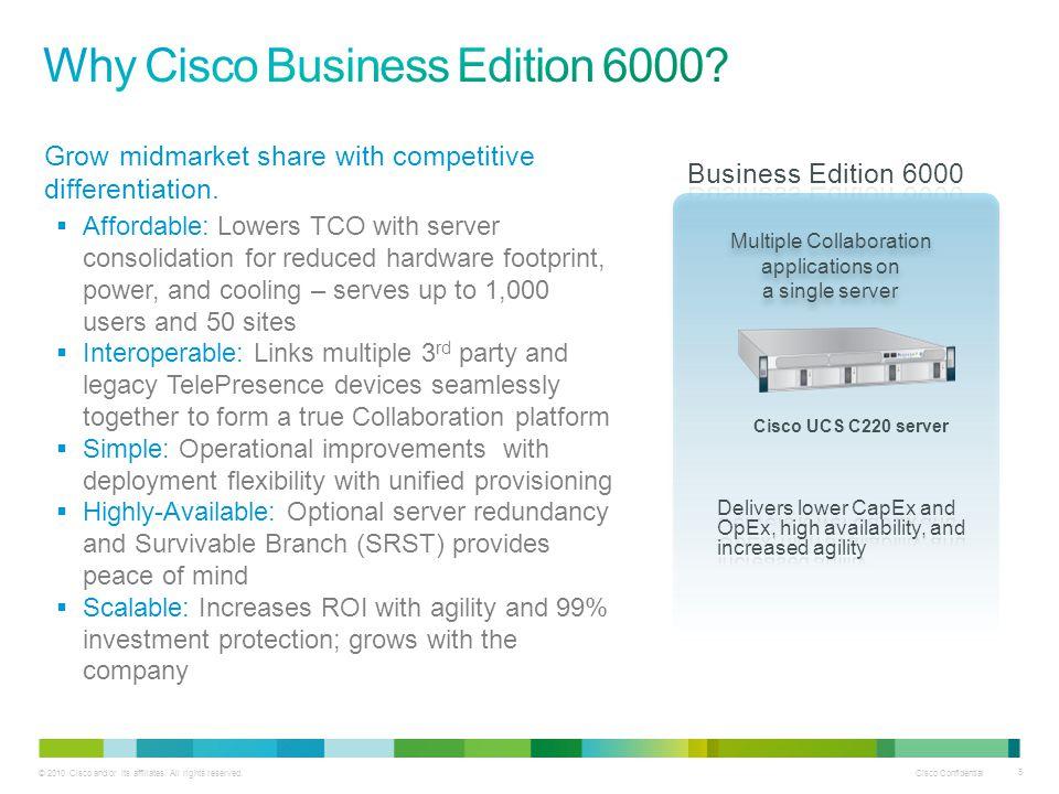 Cisco Confidential 36 © 2010 Cisco and/or its affiliates.