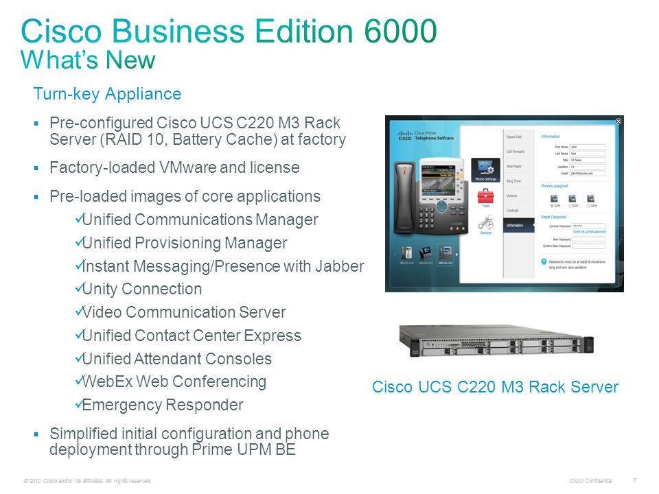 © 2010 Cisco and/or its affiliates. All rights reserved. Cisco Confidential 18