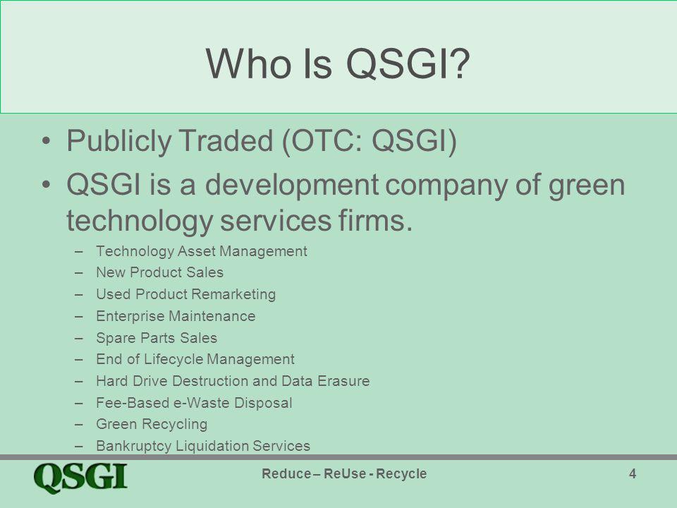 Who Is QSGI.