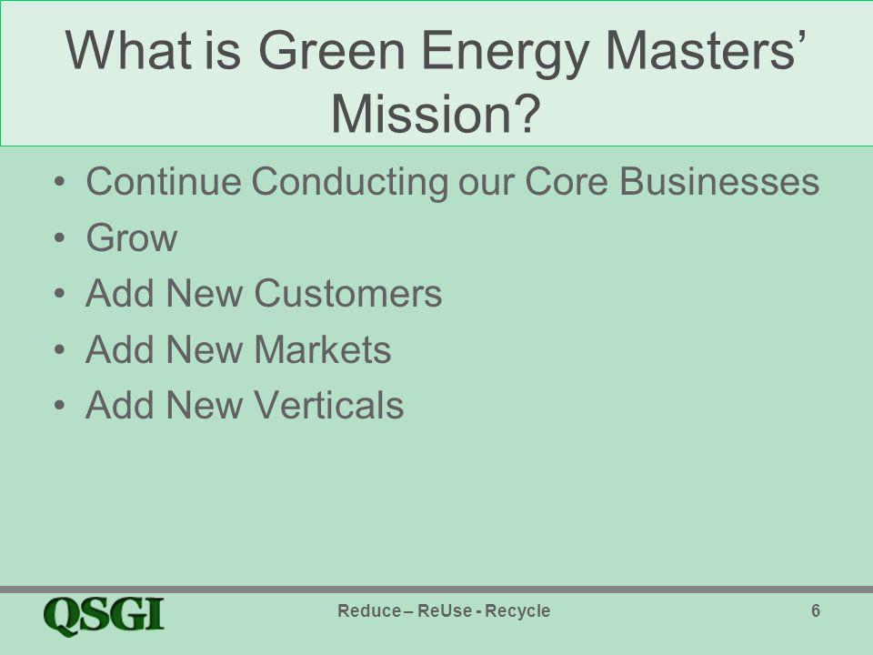 New QSGI Subsidiary QSGI Green, Inc.–The Gasket Guy, Inc.