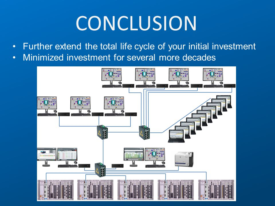 CONCLUSION Further extend the total life cycle of your initial investment Minimized investment for several more decades