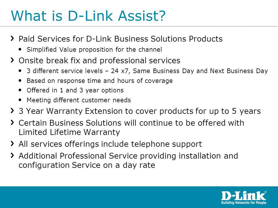 What is D-Link Assist.