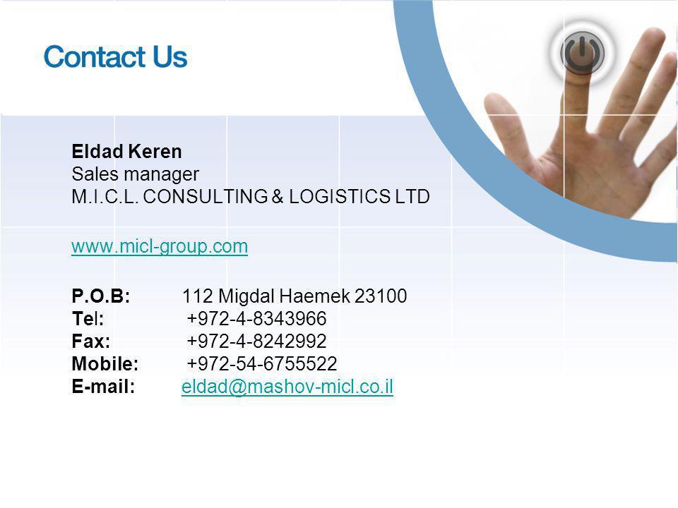 Eldad Keren Sales manager M.I.C.L.