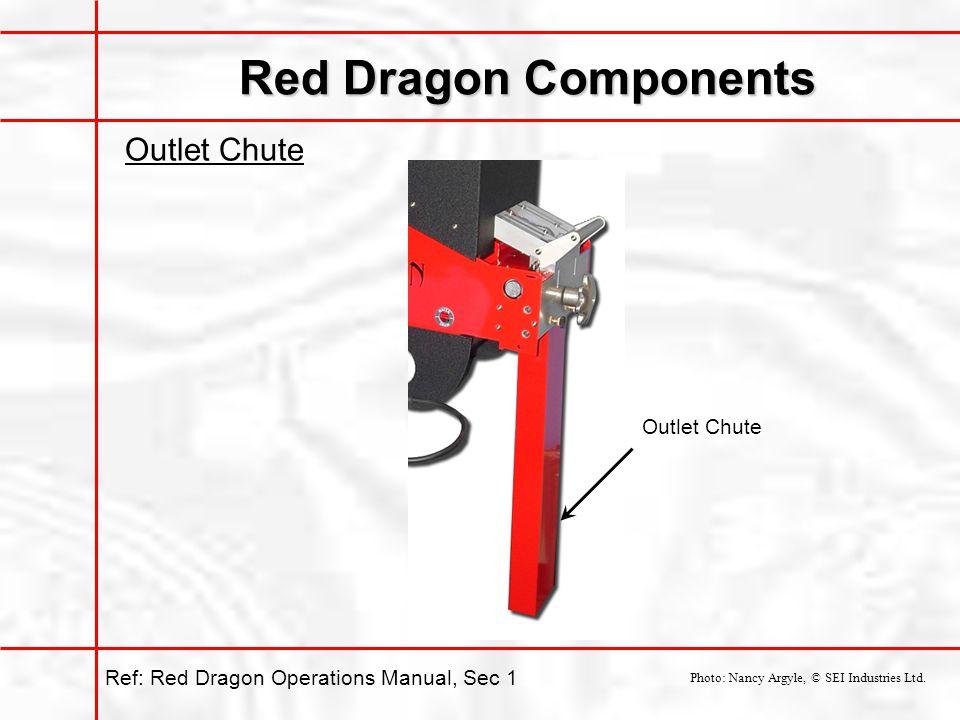 Red Dragon Components Outlet Chute Photo: Nancy Argyle, © SEI Industries Ltd.