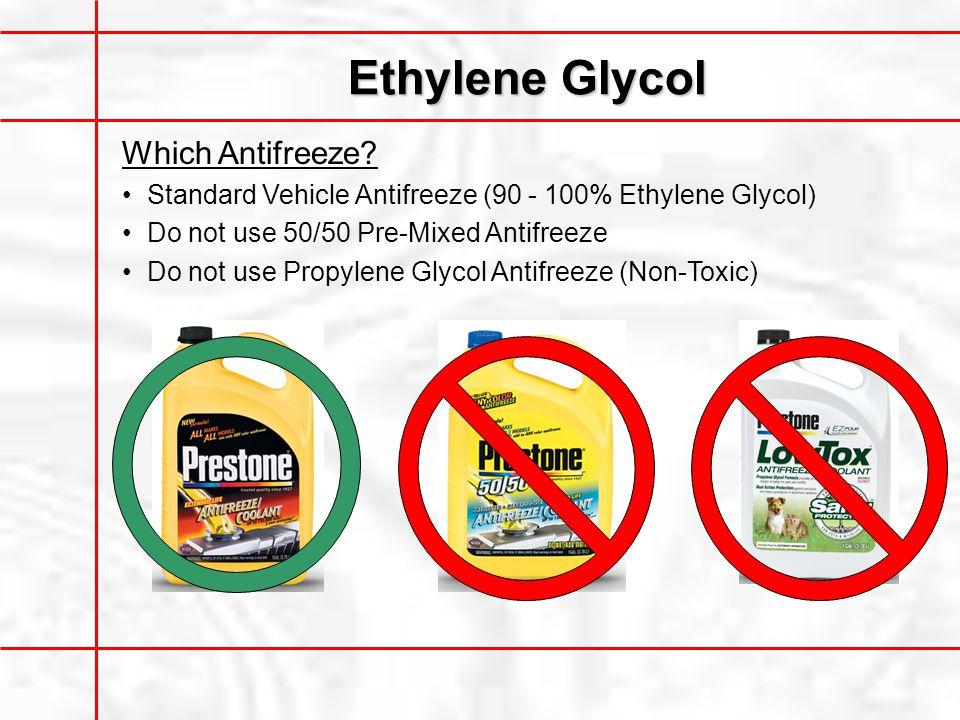 Ethylene Glycol Which Antifreeze.