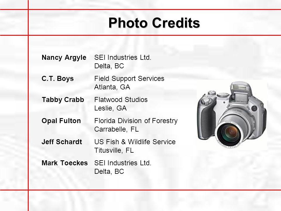 Photo Credits Nancy ArgyleSEI Industries Ltd.Delta, BC C.T.