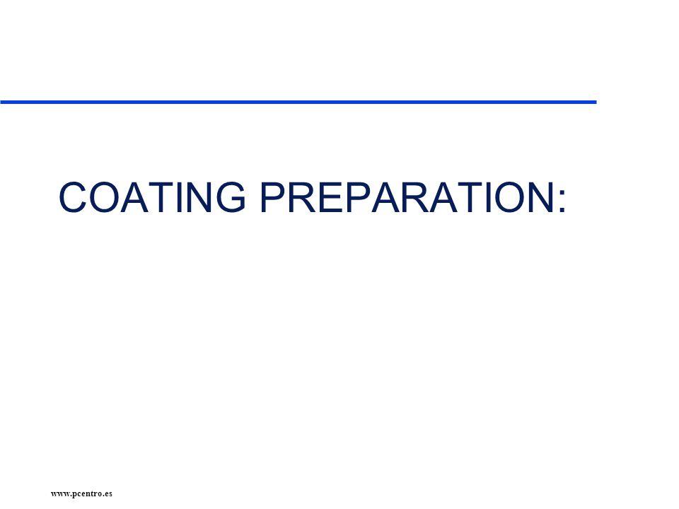 www.pcentro.es COATING PREPARATION: